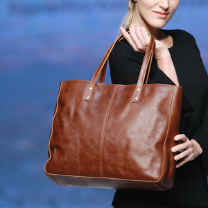 YD-8050 Elegant design 100% genuine crazy horse leather women handbag, fashion ladies handbag