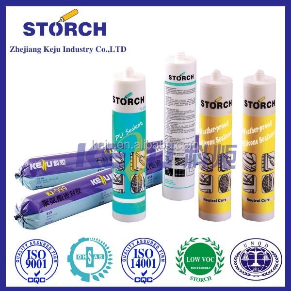 Stone neutral silicone sealant adhesive for concrete and mable