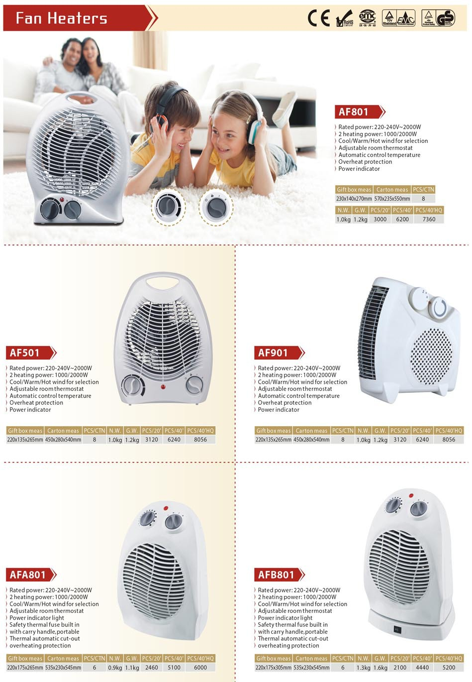 5,000 hours lifespan infrared fan heater (1000W-2000W)Freestanding Installation