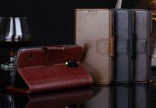Genuine Cow skin wallet leather case for Samsung Galaxy S5