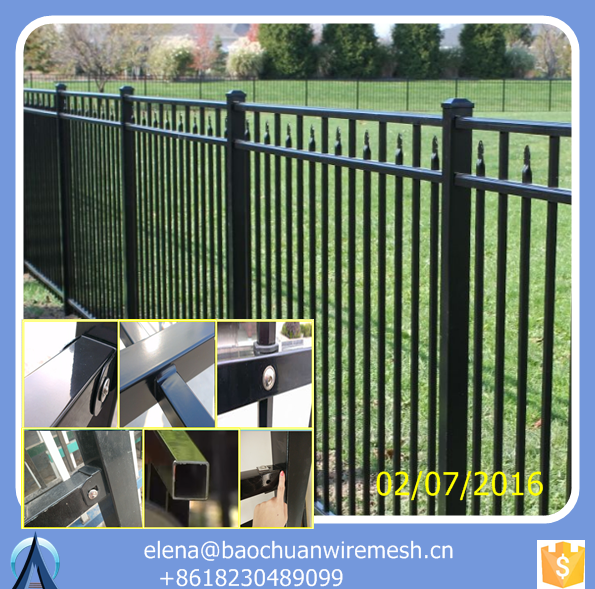 h beam steel fence posts / ornamental fence