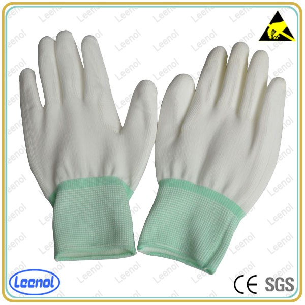 LN-8005P Nylon Palm Coating Glove ESD Polyseter Gloves