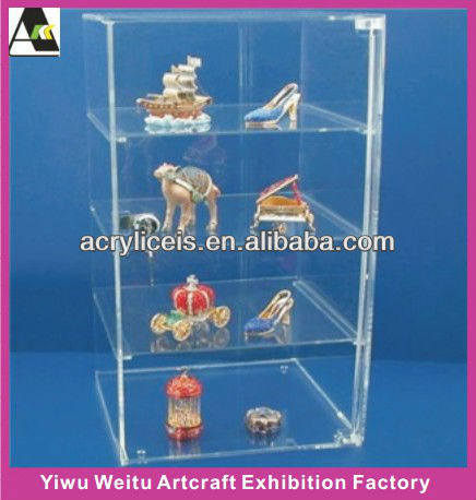 Acrylic plastic display cases for model cars