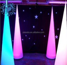 Wholesale Decoration LED lighted inflatable cone, inflatable ivory light for party events decorative