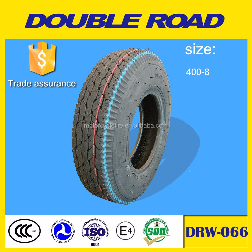 Wholesale China manufacturer motorcycle tire 400-8 tricycle tire with good price