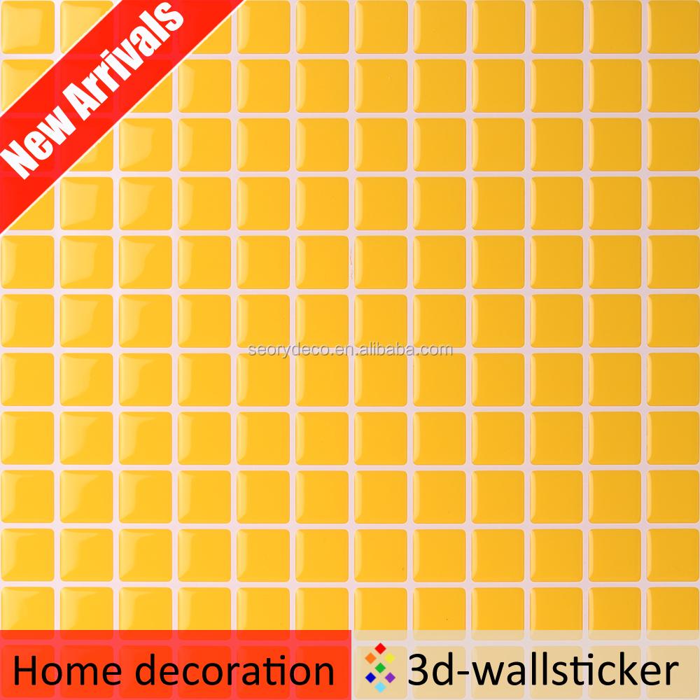 de alto brillo 3d gel de bao azulejo de la pared pegatinas
