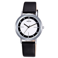 Fancy Style Waterproof Wholesale Ladies Leather Bracelet Silver Round Alloy Case Elegance Watch Price