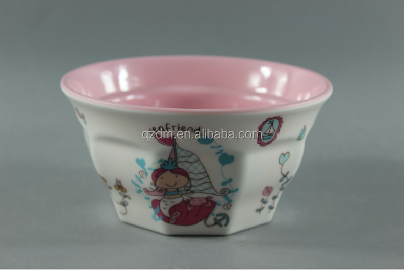 Double Color Melamine Bowl For Kids