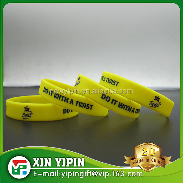 Factory price custom design/logo/size Pantone color silicone wristband / bracelet / rubber band