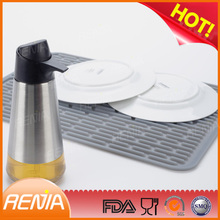 RENJIA collapsible sink dish drainer silicone drain board silicone dish drying mat uk