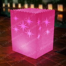 Star Sky light Luminaria Paper floating Lantern Candle Bag