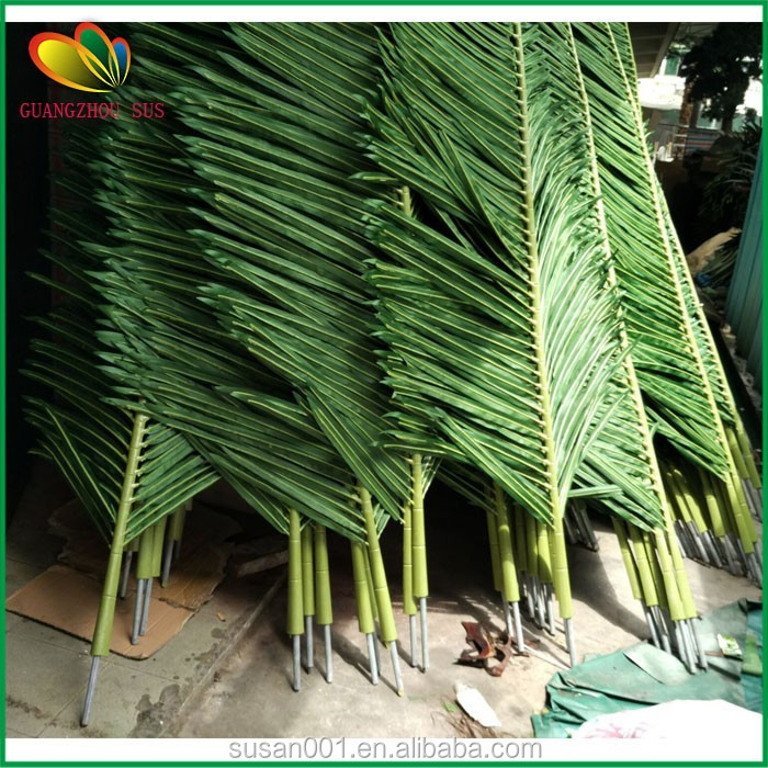 high quality artificial coconut leaf with UV resistant outdoor decor