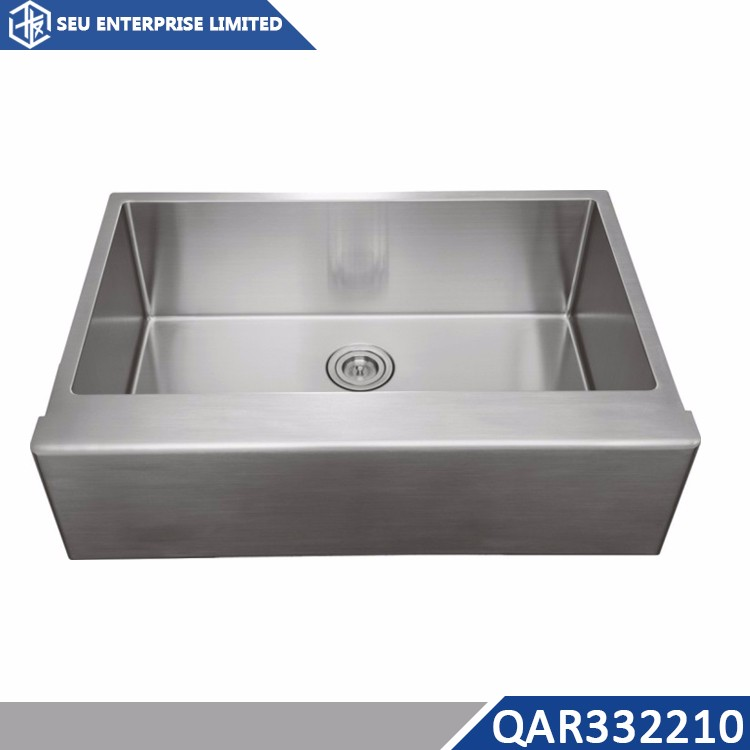 Stainless Steel Double Bowl USA Farmhouse Round Angle Kitchen Sink