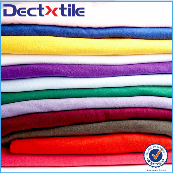 100% Polyester tricot warp knitted fabric for garment
