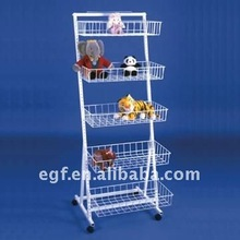 5-Basket Mobile Supermarket Cookies Display Stand