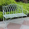 Foldable Iron White garden benches cheap