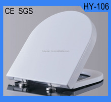 HY-106 D shape soft close quick release screw toilet seat