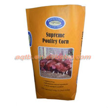 colored pp woven bag for chicken feed