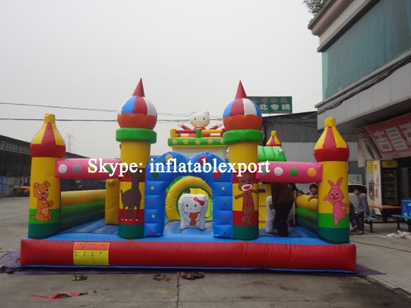 hello kitty inflatable kids theme park sell used amusement park