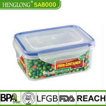 Plastic rectangle Airtight Food storage containers/box with locking lid,BPA Free,Microwave safe