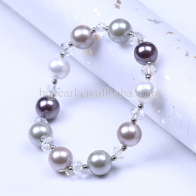 cheap shell silver bracelet