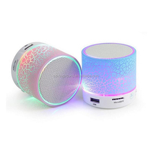 Colorful Decorative Pattern LED Light Rechargeable Speaker with FM radio and TF card function