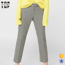 Factory price professional good serve checks lady trousers