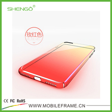 Customized Gradient Color Optical Plating Full Protective Cover Plastic Mobile Phone Hard Case for iPhone 7 Plus