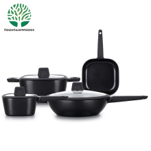 Eco-Friendly Black Feature and Best Aluminum Metal Type Non stick Induction Cookware Set