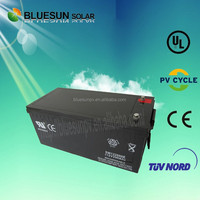 2015 year made in China best high efficiency agm deep cycle battery 12v 200ah