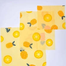 LFGB certificated 3 pack <strong>a</strong> set organic reusable beeswax <strong>paper</strong> eco-friendly washable food storage beeswax sheet wrap
