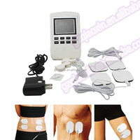 New 4 Pads Full Body Massager Slimming Electric Slim Pulse Muscle Relax Fat Burner