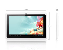 hot selling 7 inch free sample tablet pc A33 / RK3126 wifi bluetooth tablet pc download google play store