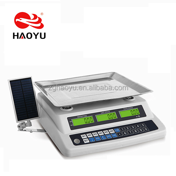 HAOYU 888 acs digital price computing scale very strong double frame inside solar panel optional