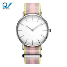 Stylish watch women 36mm case with nato strap 18mm stainless steel casing up to 5ATM water resistant