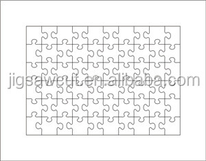 Die cutter Wholesale for Jigsaw puzzle toys A4-60PCS