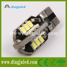 Dingju factory supply t10 canbus led light european used car market