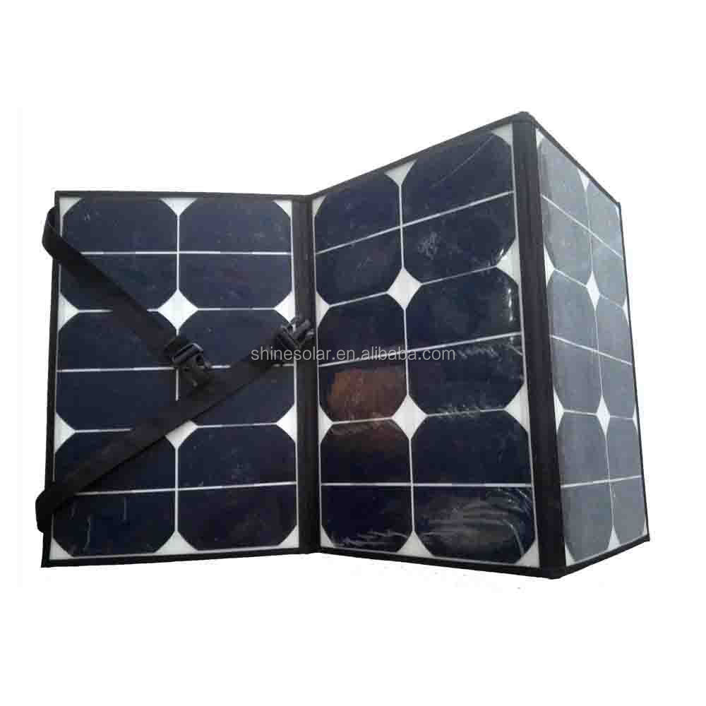 folding solar panel carry bag for travelling with High Efficiency