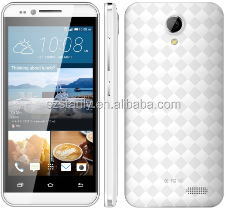 Cheapest V23 MT6580 Quad core Android 5.1 system 4.5 inch 3G Smartphone with 2.5D arc screen