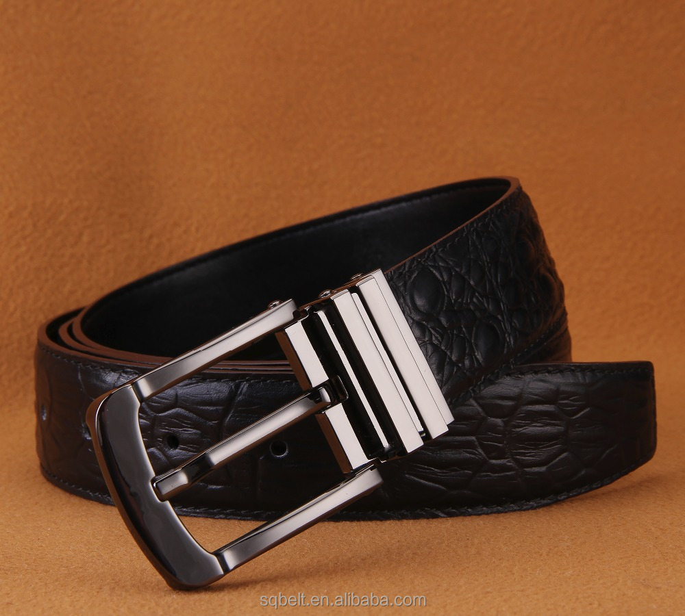 wholesale high quality crocodile leather <strong>belt</strong> with pin buckles adjustable leather <strong>belt</strong> for men