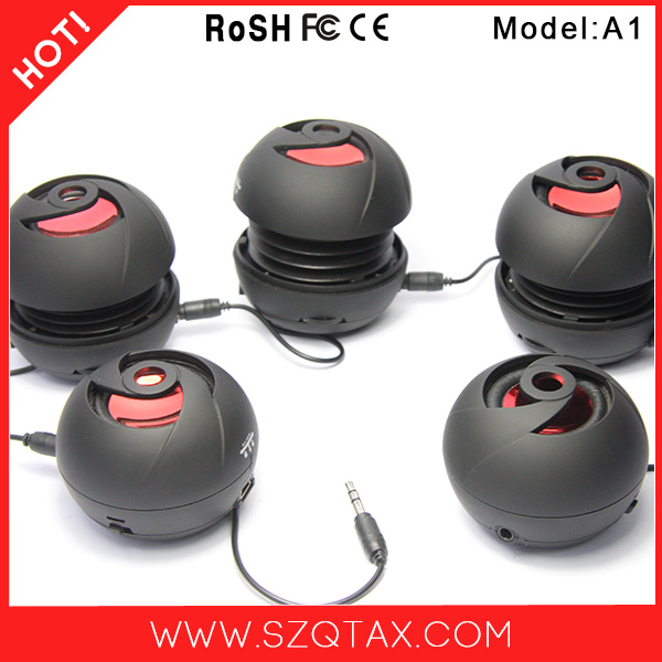 New 2014 Mini Portable USB Speaker 3W with Powerful 40mm Driver Pocket Boombox for Smart Phone