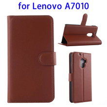 Litchi Texture Horizontal Magnetic Snap Flip Case for Lenovo A7010