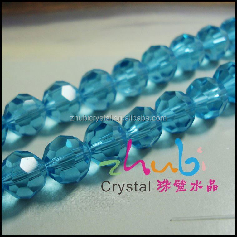 Factory Direct Sell Blue Color 8MM Round Shaped Glass Bead