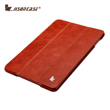 2017 Ultra slim luxury flip genuine leather back cover for ipad mini 4 case