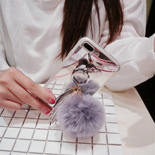 The latest winter ladies lanyard mobile phone case with pompom for iphone 6/6s/6p/6sp/7/7plus