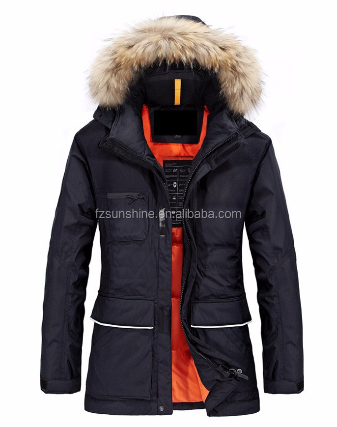 2017 Custom Wholesale Unisex Fur Hood Winter DOWN Horse Riding Equestrian Clothing Jackets