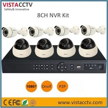 Hot Selling HD 8CH Security Camera System 1080P HDMI NVR 8pcs IP CCTV Camera KIT Outdoor And Indoor Camera Home Surveillance KIT