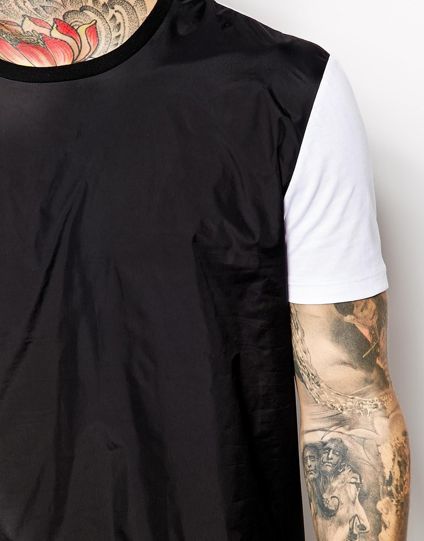 Men 39 s black and white t shirt create your own t shirt for How to start your own t shirt brand