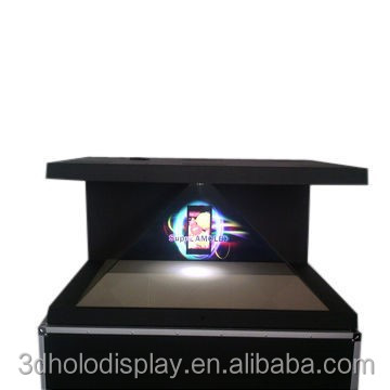 Holographic display 3d pyramid For advertisement of new product