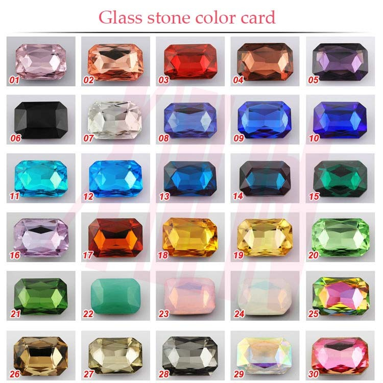 Wolesale fashion triangle crystal Loose Stone for decoration